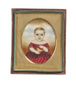 ATTRIBUTED TO MRS. MOSES B. RUSSELL (CLARISSA PETERS) | MINIATURE PORTRAIT OF WILLIAM HENRY BALDREY, SON OF CAPTAIN SAMUEL BALDREY