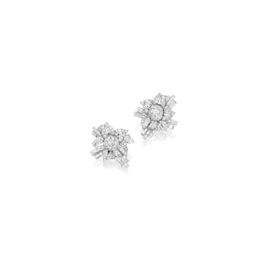 PAIR OF DIAMOND EARCLIPS | 鑽石耳環一對