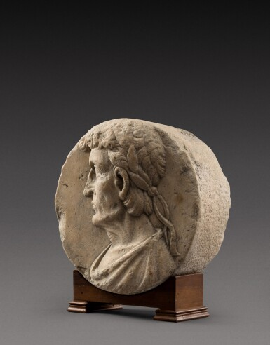 View 2. Thumbnail of Lot 134. Northern Italian, 16th century   Relief roundel with an Emperor.