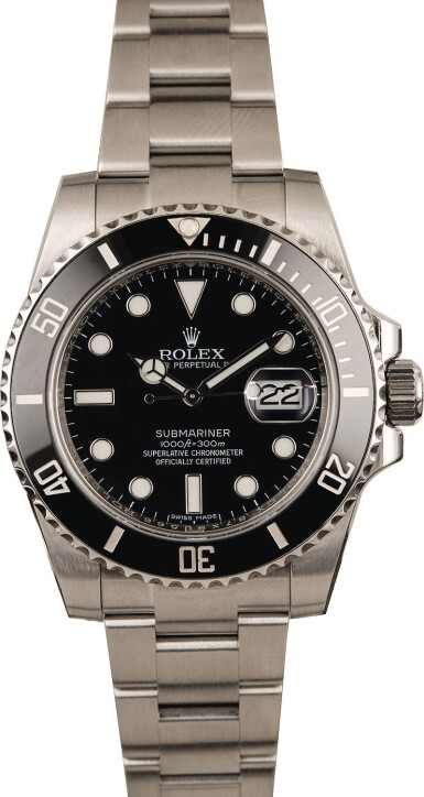 View 2. Thumbnail of Lot 1. ROLEX | Submariner, Ref. 116610LN, A Stainless Steel Wristwatch with Bracelet, Circa 2017  .