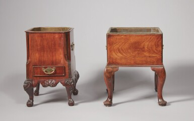 View 4. Thumbnail of Lot 520. A GEORGE II MAHOGANY JARDINIÈRE, 18TH CENTURY, TOGETHER WITH AN ANGLO-DUTCH MAHOGANY JARDINIÈRE, 19TH CENTURY.