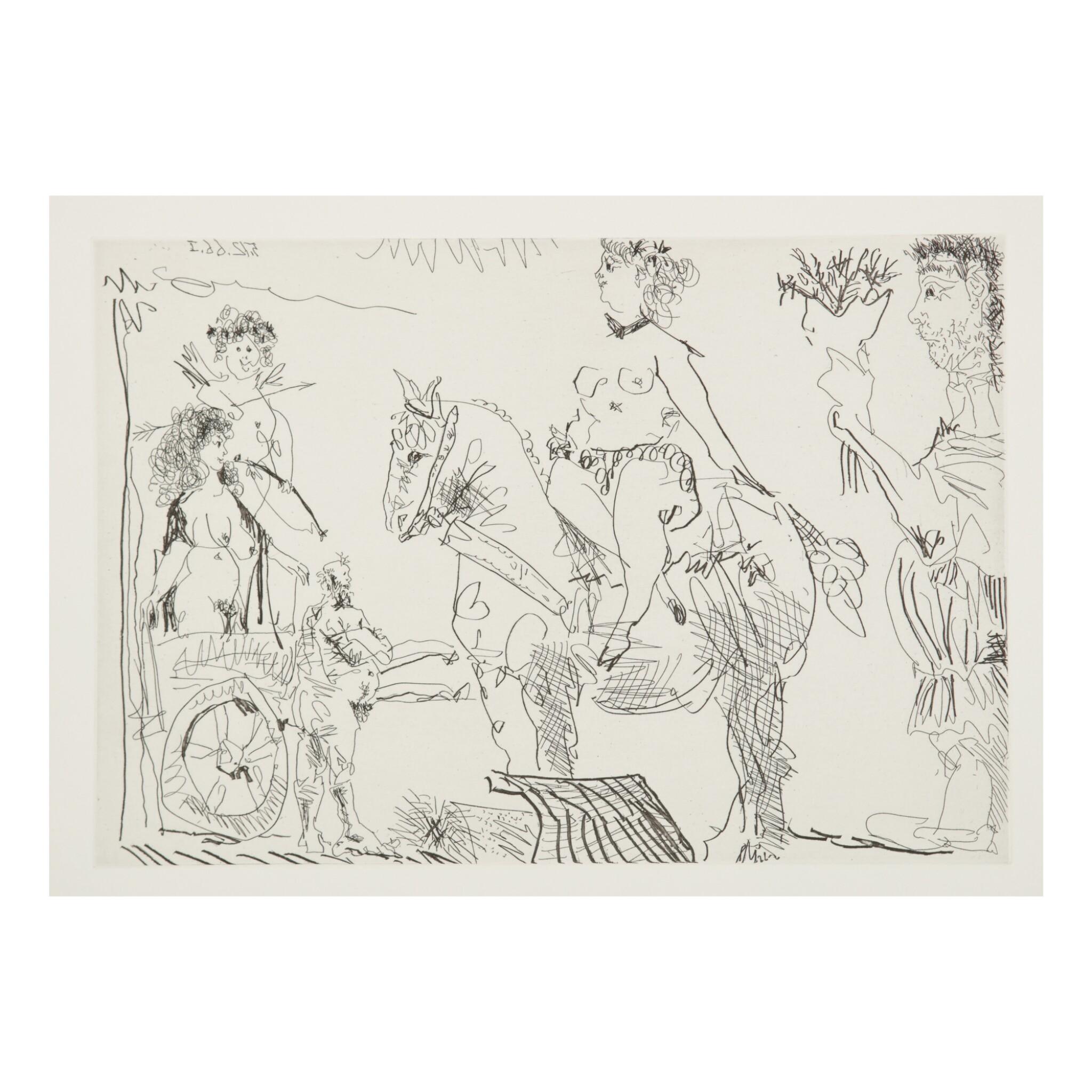 View full screen - View 1 of Lot 169. PABLO PICASSO | LE COCU MAGNIFIQUE (B. 1244-1255; BA. 1432-1443; C. BKS 140).