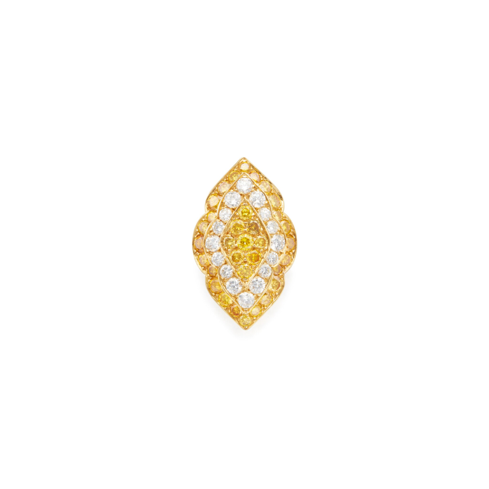View full screen - View 1 of Lot 235. DIAMOND AND COLORED DIAMOND RING, VAN CLEEF & ARPELS.