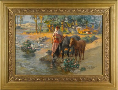 View 2. Thumbnail of Lot 151. Watering the Horses.