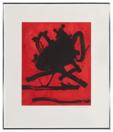View 2. Thumbnail of Lot 80. ROBERT MOTHERWELL   RED SEA II (WALKER ART CENTER 242).