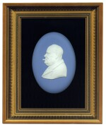 [Winston Churchill] — Arnold Machin, artist   Wedgwood Portrait Medalion, commemorating Churchill's 90th birthday, 1964