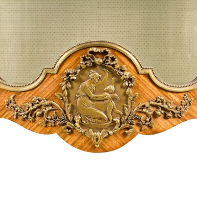 View 4. Thumbnail of Lot 17. A FRENCH GILT-BRONZE MOUNTED TULIPWOOD VITRINE, BY FRANÇOIS LINKE, CIRCA 1900.