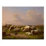 EUGÈNE JOSEPH VERBOECKHOVEN | SHEEP IN A MEADOW