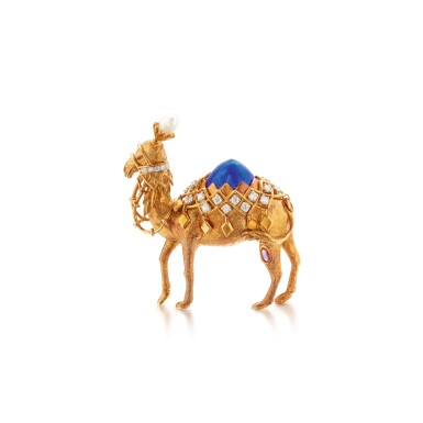 View 1. Thumbnail of Lot 316. Schlumberger for Tiffany & Co. | Gold, Enamel, Diamond, and Gem-Set Brooch.