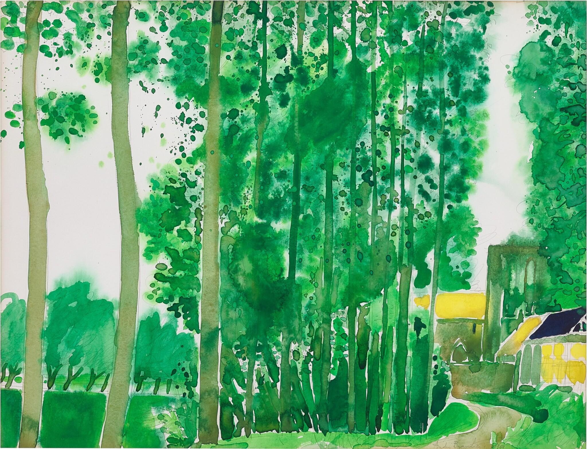 View full screen - View 1 of Lot 2001. André Brasilier 安德烈・布拉吉利   Eglise 教堂.