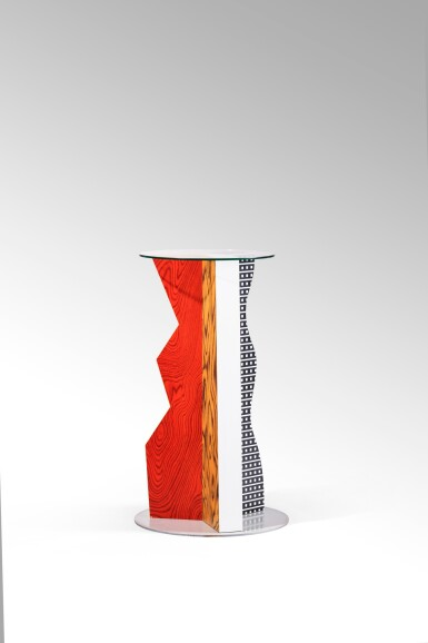View 3. Thumbnail of Lot 39. Ivory side table, designed in 1985.