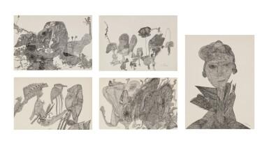 Ursula (U. Schultze-Bluhm) | Sans Titre [5 oeuvres]
