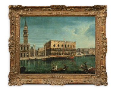 View 2. Thumbnail of Lot 57. Venice, a view of the Molo from the Bacino di San Marco, with the Palazzo Ducale and the Bucentaur.