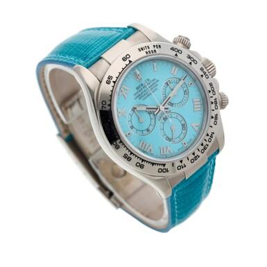 View 3. Thumbnail of Lot 211. Reference 116519 'Daytona Beach'  A white gold automatic chronograph wristwatch, Circa 2000.