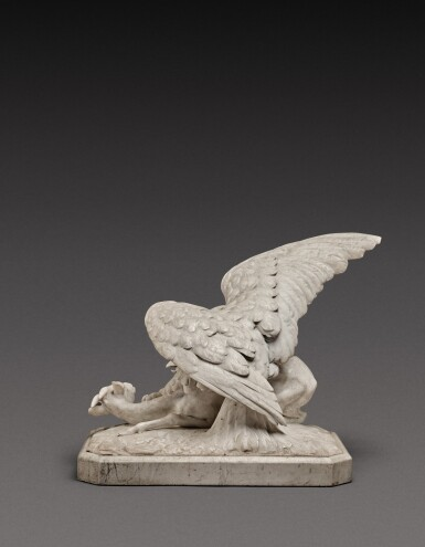View 4. Thumbnail of Lot 131. Italian, probably Rome, first half 19th century | Eagle attacking a Goat.