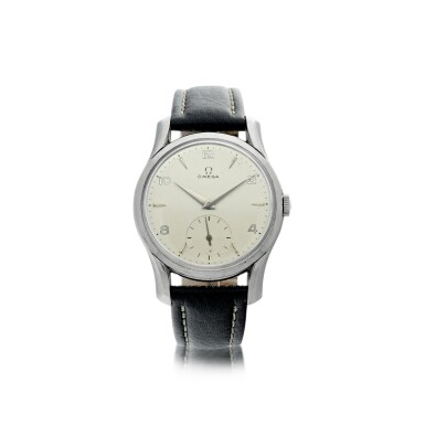 View 1. Thumbnail of Lot 62. REFERENCE 2487-5 A STAINLESS STEEL WRISTWATCH, CIRCA 1960.