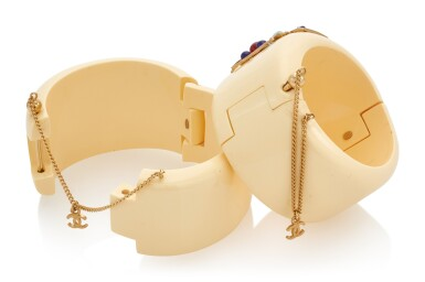 View 3. Thumbnail of Lot 133. PAIR OF CUFFS , CHANEL.
