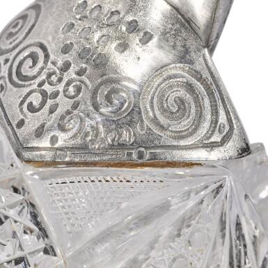 View 4. Thumbnail of Lot 100. Two gem-set, silver-gilt and cut-glass kovshi, Ivan Khlebnikov, Moscow, 1908-1917.