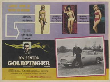 GOLDFINGER (1964) POSTER, MEXICAN