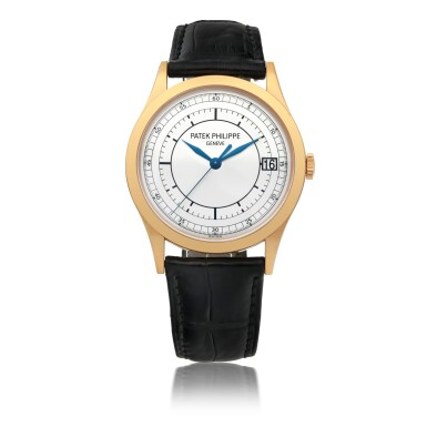PATEK PHILIPPE | 'GRANDE' CALATRAVA, REF 5296   PINK GOLD WRISTWATCH WITH DATE AND TWO-TONE SECTOR DIAL   CIRCA 2011
