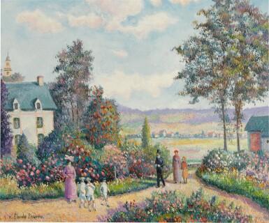 View 1. Thumbnail of Lot 90. Un Dimanche à la Roseraie 'Jean Grave' (Pont de l'Arche Alizay).