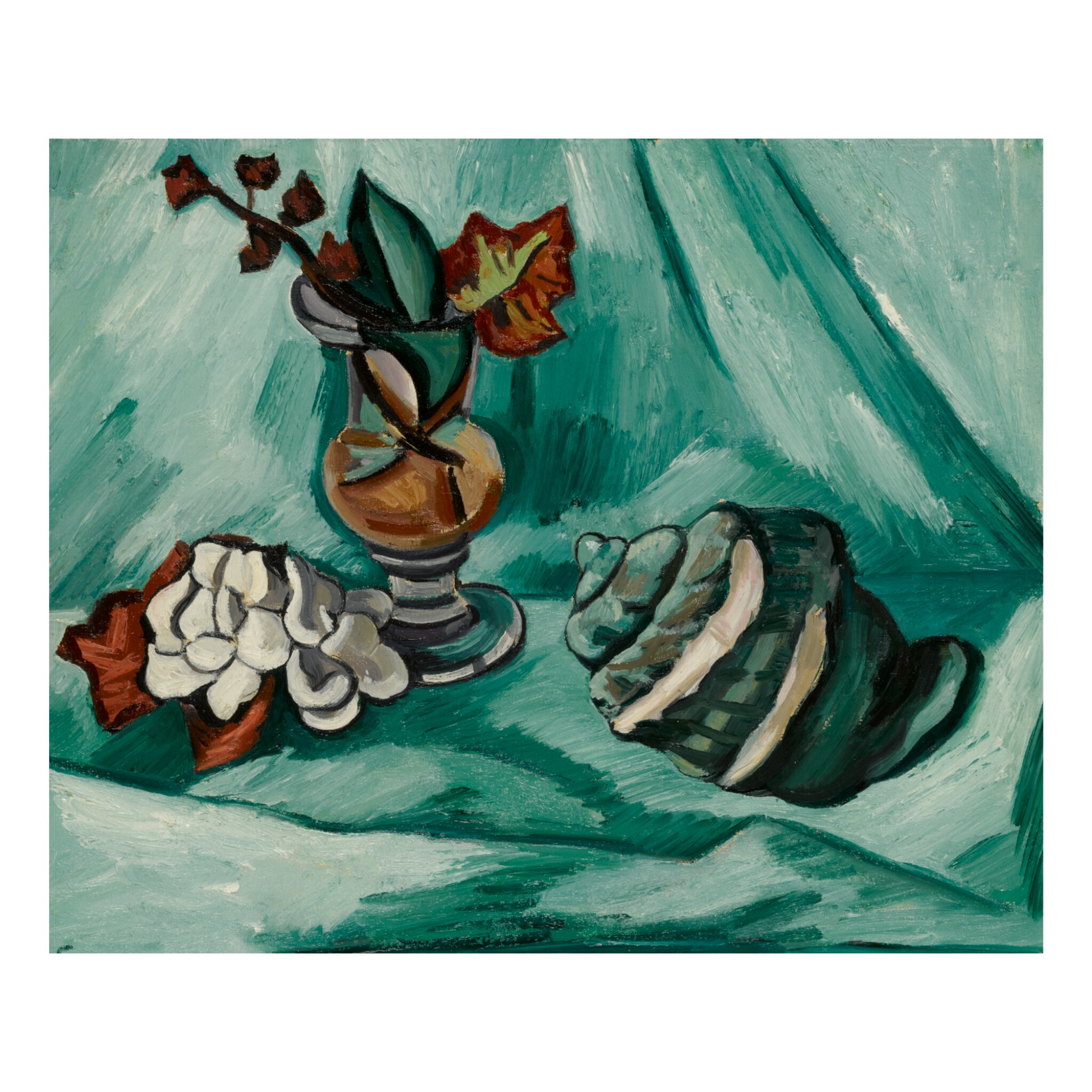 View full screen - View 1 of Lot 21. MARSDEN HARTLEY | STILL LIFE WITH CONCH SHELL.