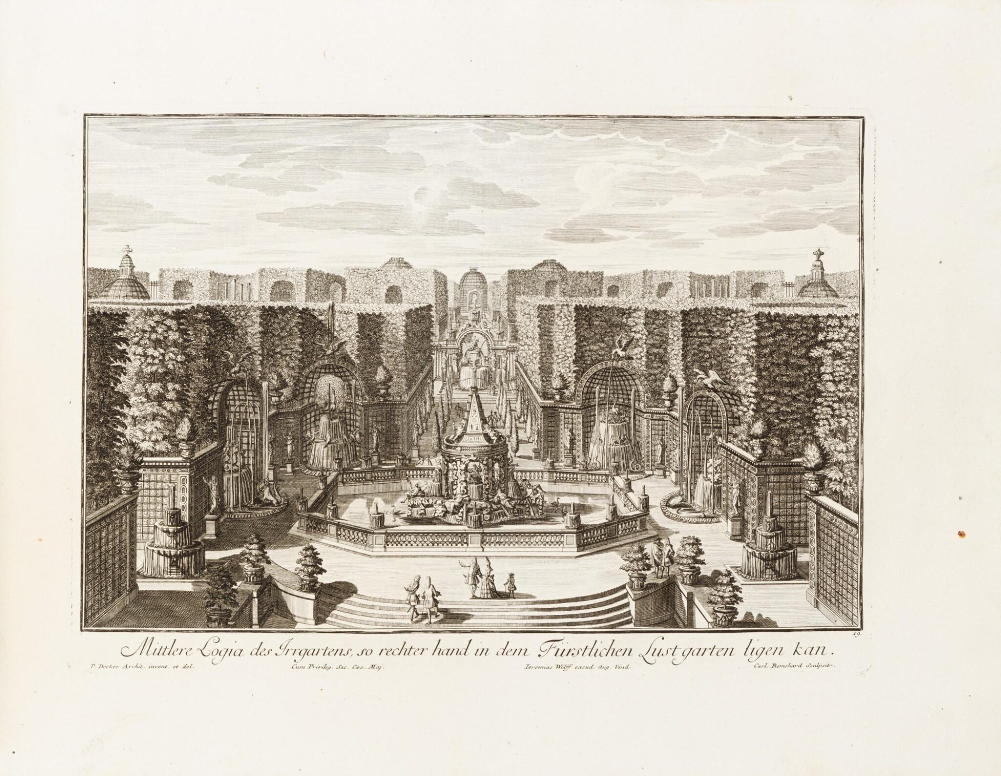 View full screen - View 1 of Lot 55. Fürstlicher Baumeister... Augsbourg, 1711-1716. In-folio oblong. Edition originale.
