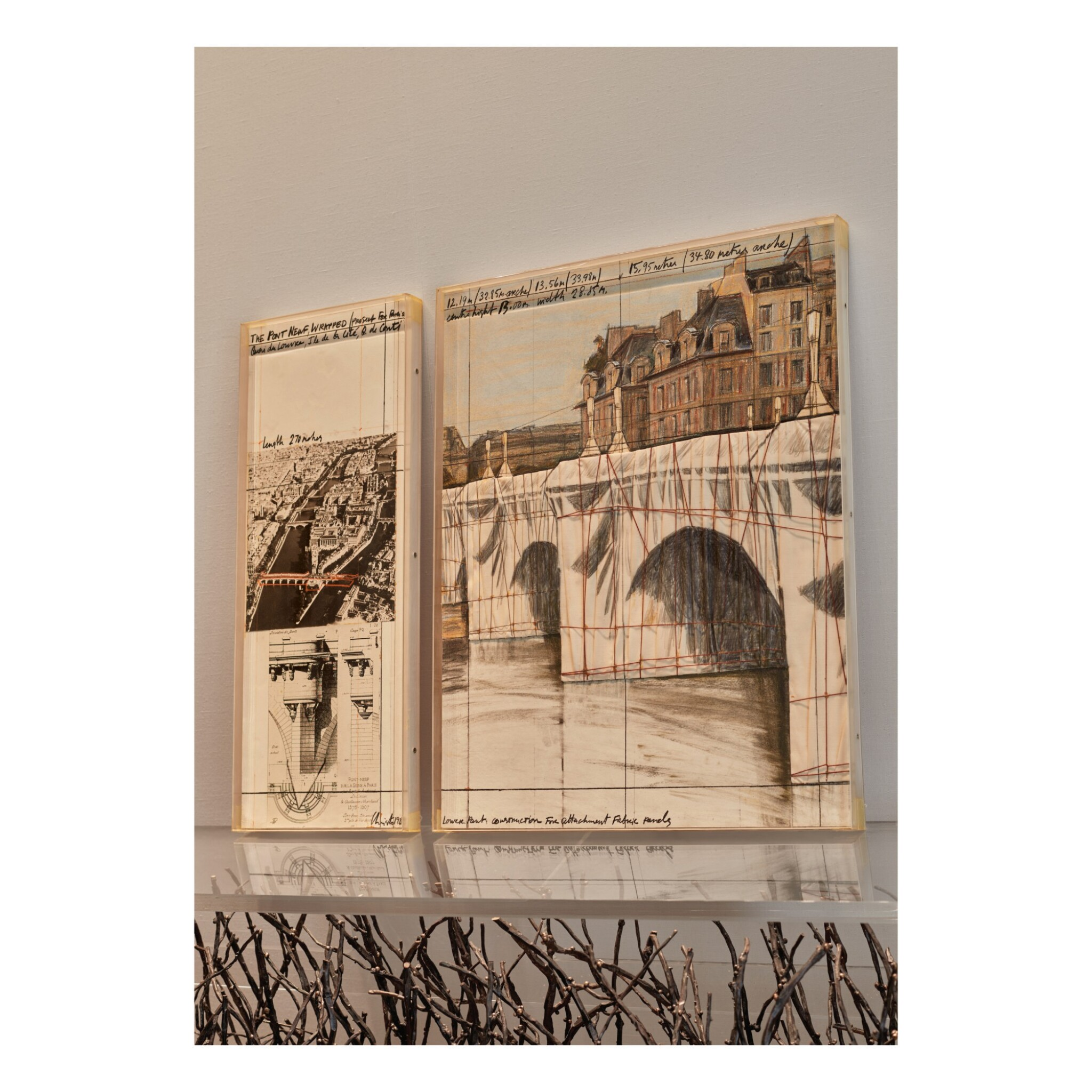 View full screen - View 1 of Lot 61. The Pont Neuf Wrapped: Project for Paris.