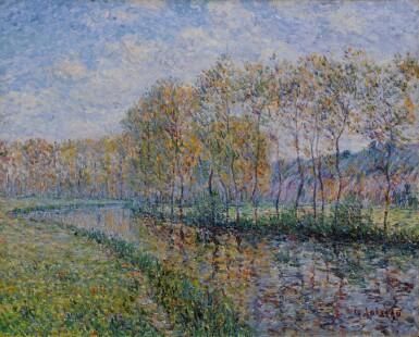 View 1. Thumbnail of Lot 5. Les Rives de l'Eure le matin, Saint Cyr du Vaudreuil.
