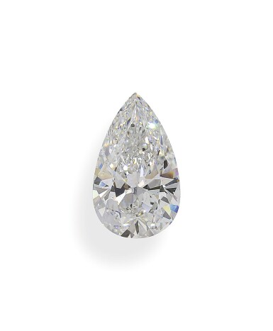 A 3.68 Carat Pear-Shaped Diamond, F Color, VS1 Clarity