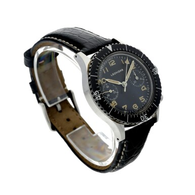 View 3. Thumbnail of Lot 116. TIPO CP-1 A RARE STAINLESS STEEL FLY BACK CHRONOGRAPH WRISTWATCH WITH HACKING MINUTES MADE FOR THE ITALIAN NAVY, CIRCA 1964.