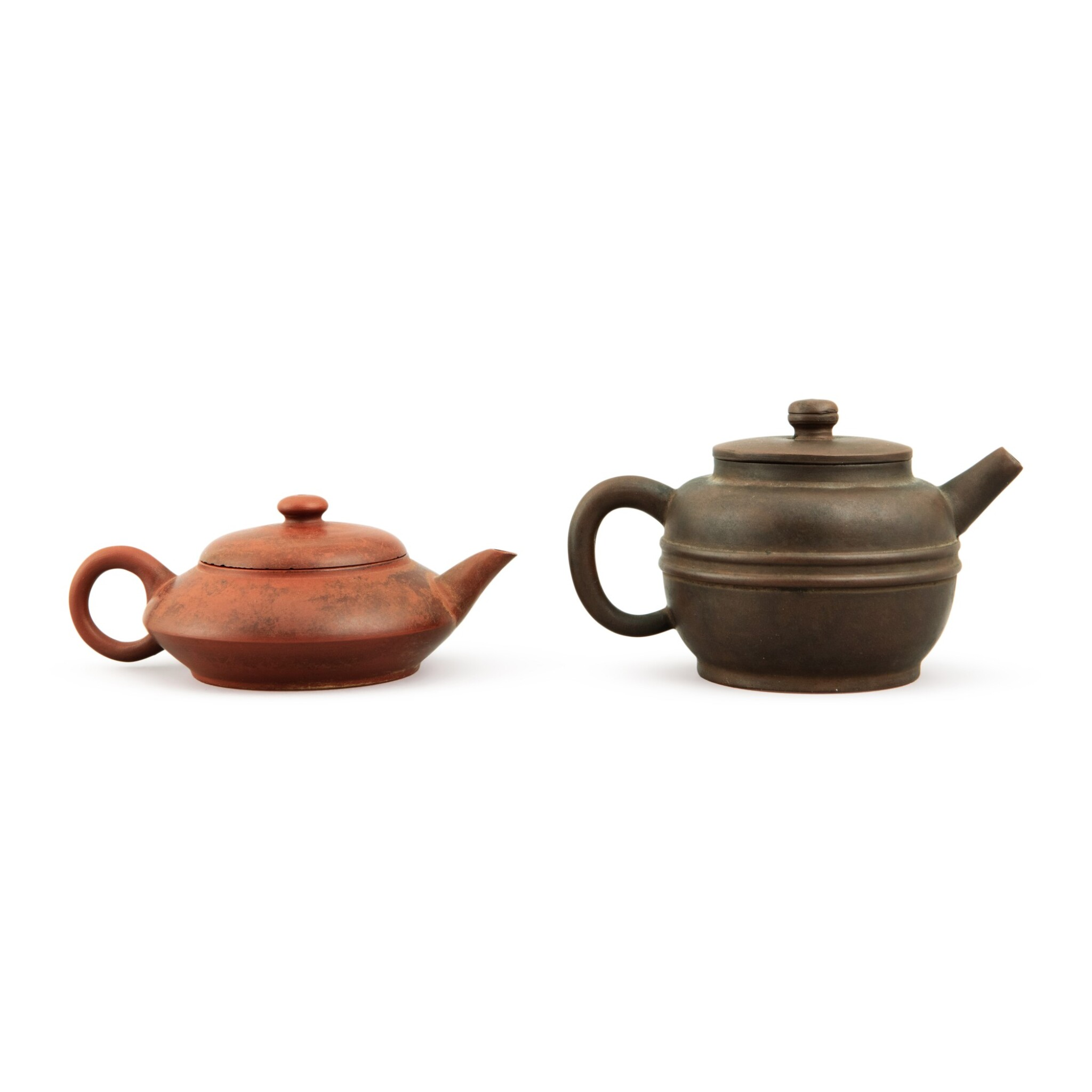 View full screen - View 1 of Lot 25. A Yixing teapot and cover, Republic period.