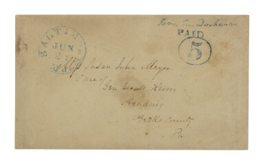Postmaster's Provisional, Baltimore, MD. 1845 5c Blue (3XU1)