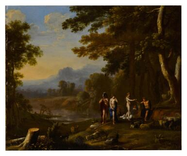 View 4. Thumbnail of Lot 26. Polyphemus and Galatea; The Judgment of Paris.