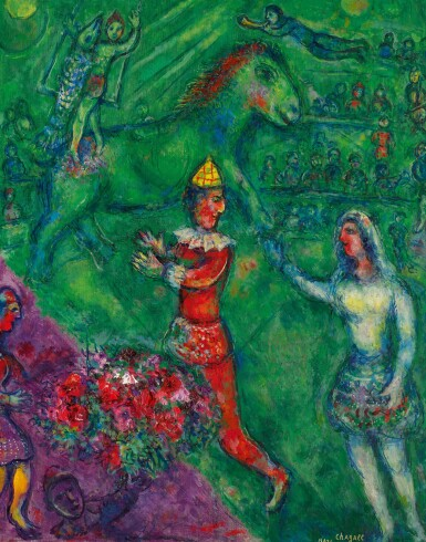 View 1. Thumbnail of Lot 1012. MARC CHAGALL | LE CIRQUE VERT.