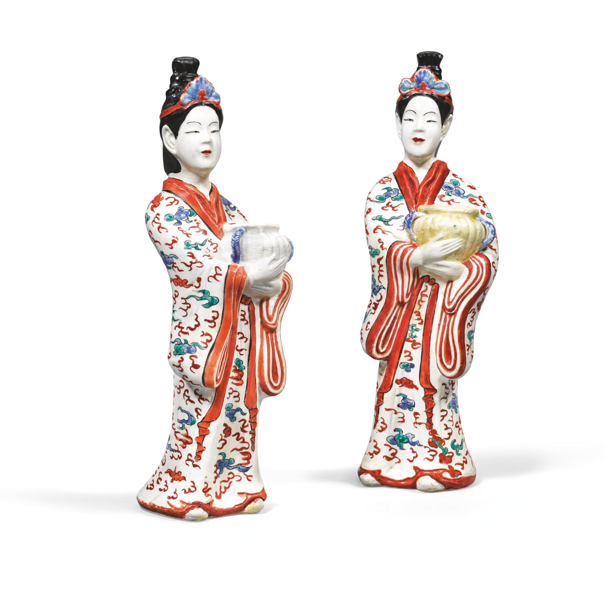 A Pair Of Kakiemon Figures Of Bijin Edo Period Late 17th Century Fine Japanese Art2020 Sotheby S