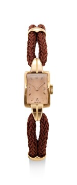PATEK PHILIPPE | REFERENCE 2112, A PINK GOLD WRISTWATCH WITH PINK DIAL, MADE IN 1946