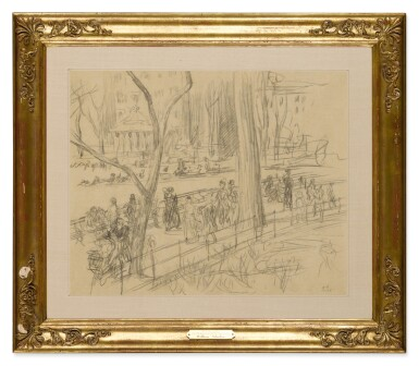 View 2. Thumbnail of Lot 127. Strolling in Washington Square.