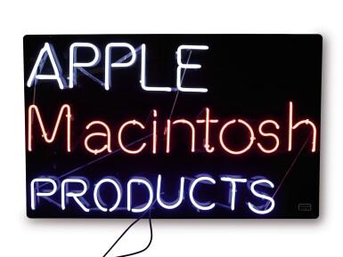 "View 1. Thumbnail of Lot 46. APPLE COMPUTER, INC.   ORIGINAL NEON ""APPLE MACINTOSH PRODUCTS"" SIGN, CIRCA 1985-1989."