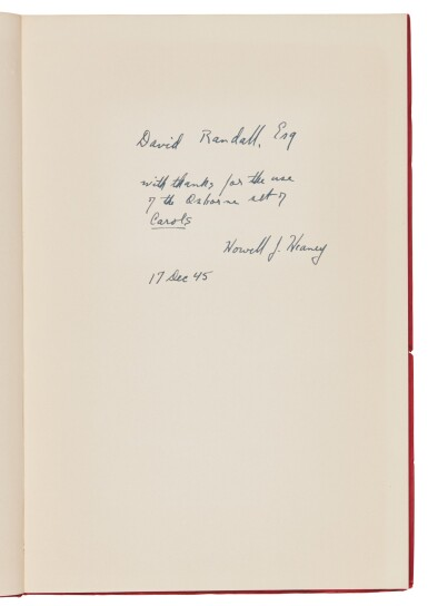 Calhoun--Heaney, Dickens' Christmas Carol after a Hundred Years, 1945, inscribed by Heaney