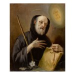 Sold Without Reserve | GIOVANNI BATTISTA TIEPOLO | ST. FRANCIS OF PAOLA HOLDING A ROSARY, BOOK, AND STAFF