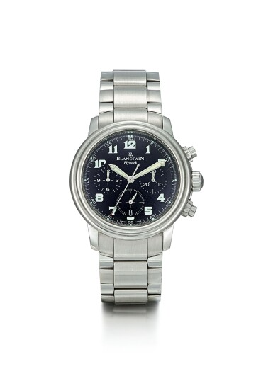BLANCPAIN | A STAINLESS STEEL FLYBACK CHRONOGRAPH WRISTWATCH WITH DATE AND BRACELET, CIRCA 2000