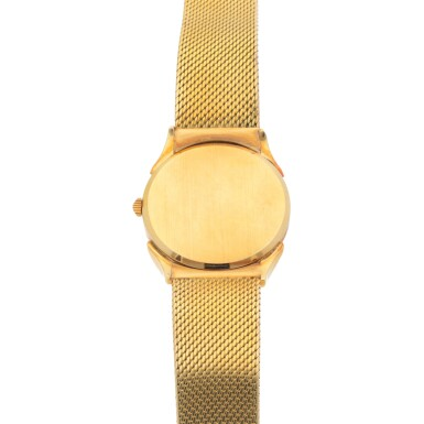 VACHERON CONSTANTIN | REF 6460 YELLOW GOLD WRISTWATCH WITH FANCY LUGS AND GAY FRERES BRACELET CIRCA 1965