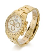 ROLEX | DAYTONA, REFERENCE 116528, YELLOW GOLD CHRONOGRAPH WRISTWATCH WITH BRACELET, CIRCA 2002