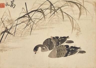 View 4. Thumbnail of Lot 2527. Bian Shoumin 1684-1752 邊壽民   Geese 蘆雁.