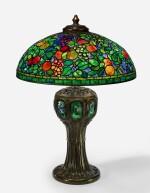 "TIFFANY STUDIOS   A RARE ""FRUIT"" TABLE LAMP"