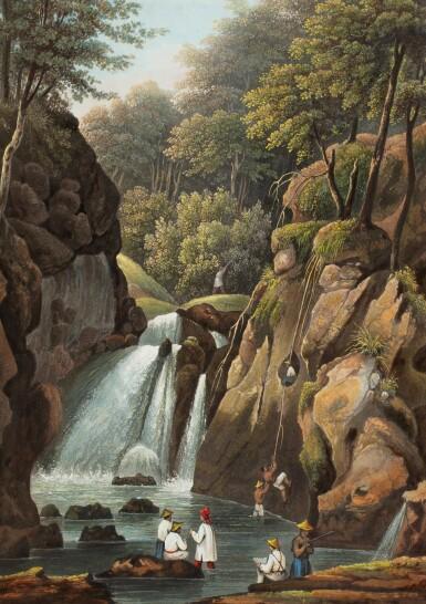 View 9. Thumbnail of Lot 215. LAPLACE. Voyage autour du monde de l'Inde et de Chine. 1833-1840. 7 volumes, dont 2 atlas et Zoologie..