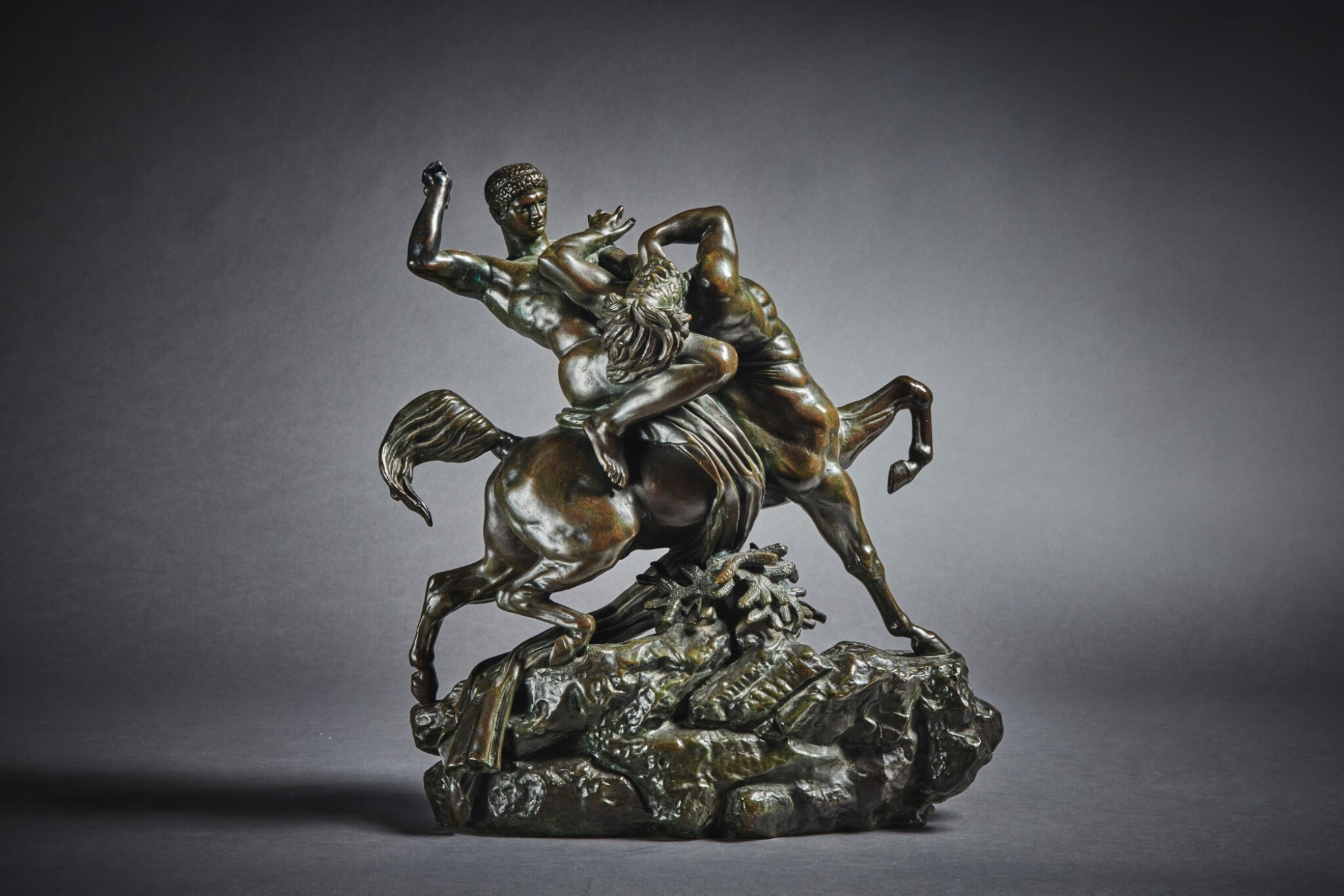 View full screen - View 1 of Lot 244. Theseus Fighting the Centaur Bianor.