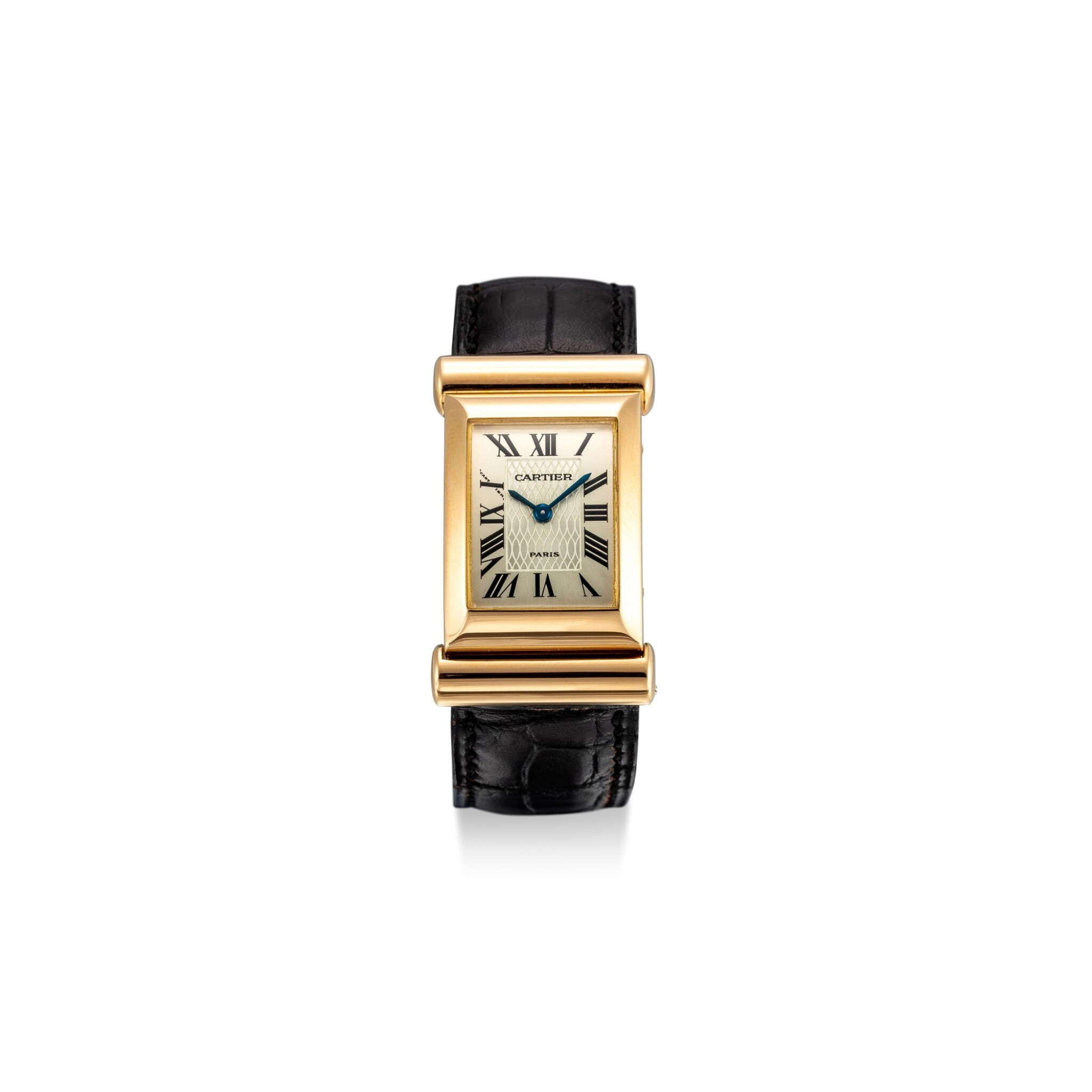 View full screen - View 1 of Lot 611. CARTIER | PRIVEE DRIVERS A LIMITED EDITION YELLOW GOLD WRISTWATCH, CIRCA 1997.