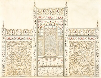 THE SCREEN OF THE TAJ MAHAL, AGRA, INDIA, COMPANY SCHOOL, CIRCA 1800